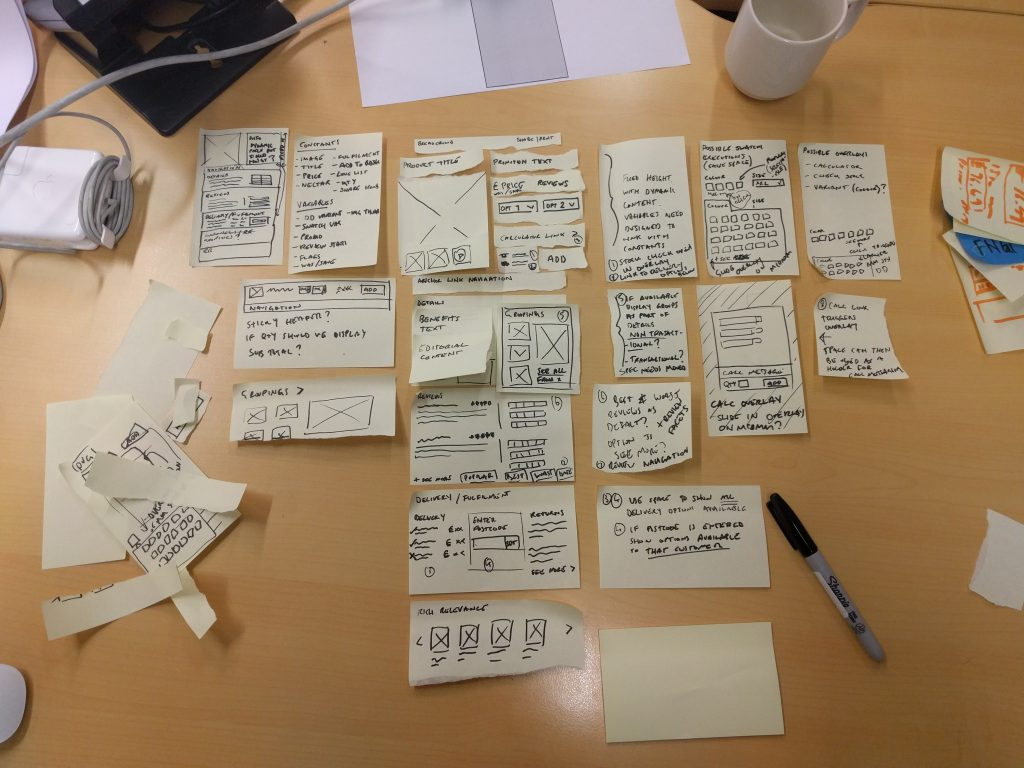 PDP Paper prototyping